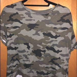 camo zara cropped t shirt